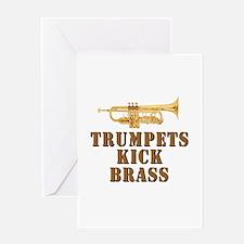 Trumpets Kick Brass Greeting Card