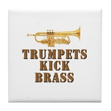 Trumpets Kick Brass Tile Coaster