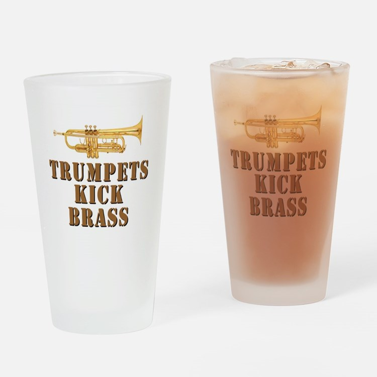 Trumpets Kick Brass Drinking Glass