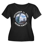 9/11 WTC Statue of Liberty Women's Plus Size Scoop