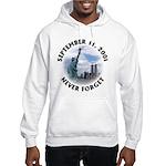 9/11 WTC Statue of Liberty Hooded Sweatshirt