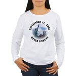 9/11 WTC Statue of Liberty Women's Long Sleeve T-S