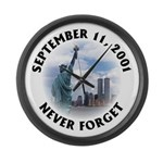 9/11 WTC Statue of Liberty Large Wall Clock