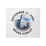 9/11 WTC Statue of Liberty Throw Blanket