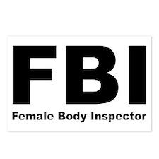 FBI Female Body Inspector Postcards (Pack of 8)