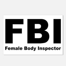 FBI Female Body Inspector Postcards (Pack of 8)