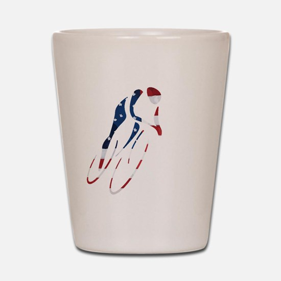 USA Cycling Shot Glass