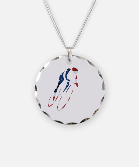 USA Cycling Necklace