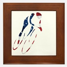USA Cycling Framed Tile