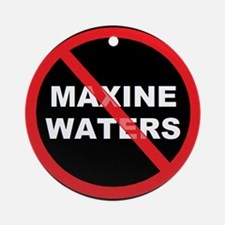 Anti Maxine Waters Ornament (Round)