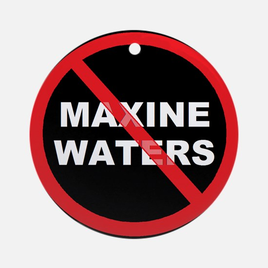 Anti Maxine Waters Ornament (Round)
