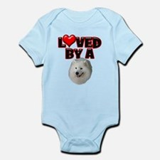 Loved by a Samoyed Infant Bodysuit