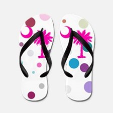 White Polka Flip Flops