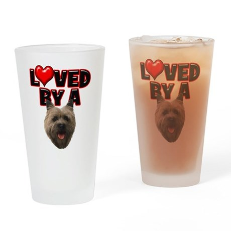 Loved by a Cairn Terrier Drinking Glass