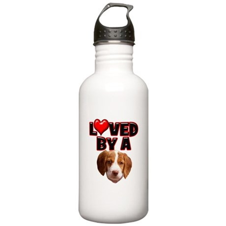 Loved by a Brittany Spaniel Stainless Water Bottle