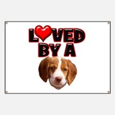 Loved by a Brittany Spaniel Banner