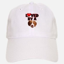 Loved by a Brittany Spaniel Baseball Baseball Cap