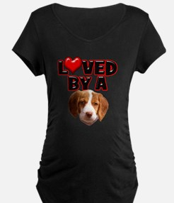 Loved by a Brittany Spaniel T-Shirt