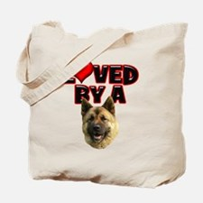 Loved by a Akita Tote Bag