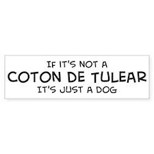 If it's not a Coton de Tulear Bumper Bumper Bumper Sticker