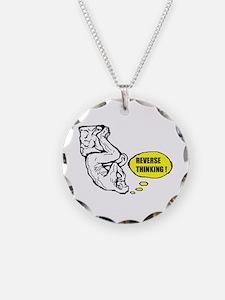 Reverse thinking Necklace Circle Charm