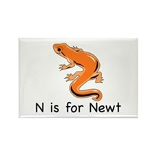 N is for Newt Rectangle Magnet