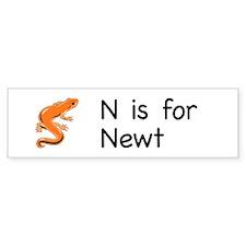 N is for Newt Bumper Bumper Sticker