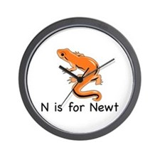 N is for Newt Wall Clock