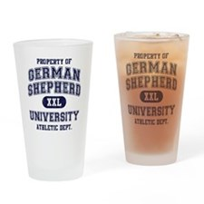 German Shepherd University Drinking Glass
