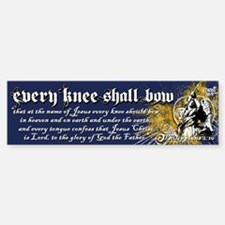 Every Knee Shall Bow Sticker (Bumper)