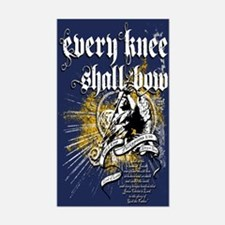 Every Knee Shall Bow Sticker (Rectangle)