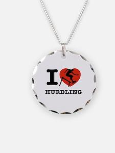 I love Hurdling Necklace