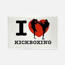 I love Kick boxing Rectangle Magnet