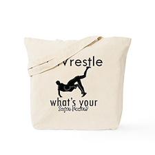 I Wrestle Tote Bag
