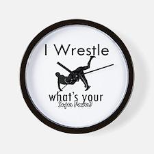 I Wrestle Wall Clock