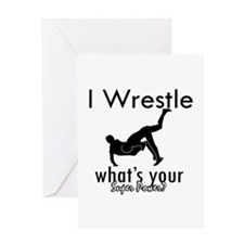 I Wrestle Greeting Card
