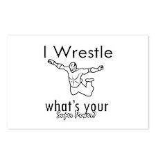 I Wrestle Postcards (Package of 8)