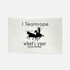 I Teamrope Rectangle Magnet
