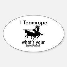 I Teamrope Sticker (Oval)