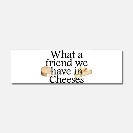 Cheeses Car Magnet 10 x 3