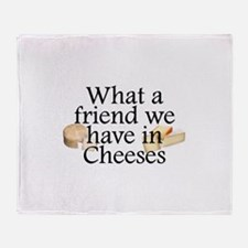 Cheeses Throw Blanket