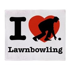 I love Lawn bowling Throw Blanket