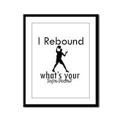 I Rebound Framed Panel Print