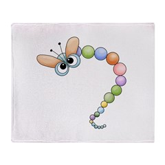 Funny Colorful Dragonfly Throw Blanket
