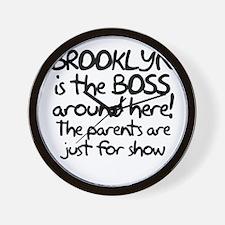Brooklyn is the Boss Wall Clock