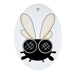 Bug Eyed Fly Ornament (Oval)