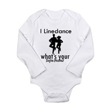 I Linedance Long Sleeve Infant Bodysuit