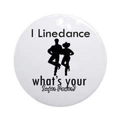 I Linedance Ornament (Round)