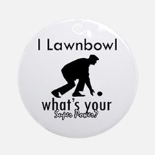 I Lawnbowl Ornament (Round)