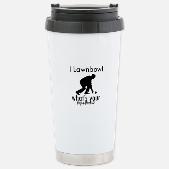 I Lawnbowl Stainless Steel Travel Mug